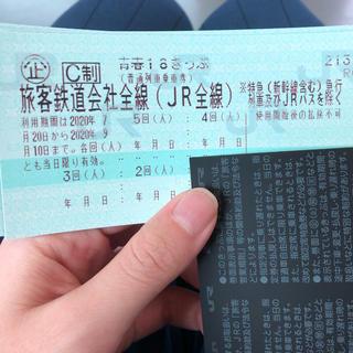 ジェイアール(JR)の限定値下げ 青春18きっぷ 残り4回 返却不要(鉄道乗車券)
