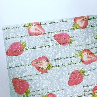 オリジナル デザインペーパー antique berry グリーン A4 10枚(カード/レター/ラッピング)