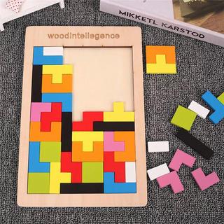 ブロック パズル テトリス 型合わせ 手先 指先 知育 モンテッソーリ おもちゃ(知育玩具)