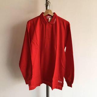 ミキハウス(mikihouse)の半額SALE ミキハウス MIKIHOUSE 大人 長袖ポロシャツ 赤(ポロシャツ)