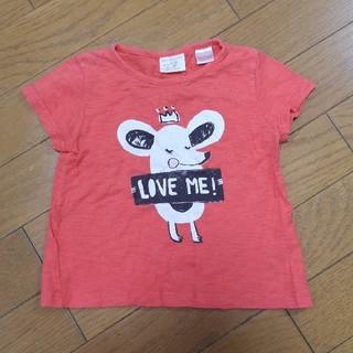 ザラキッズ(ZARA KIDS)のZARA baby Tシャツ フロントプリント サイズ80(Tシャツ)
