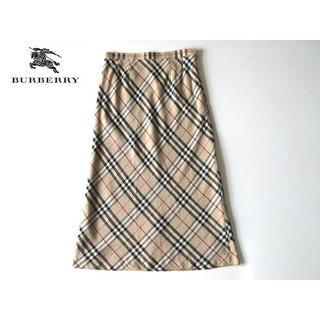 バーバリー(BURBERRY)のバーバリーロンドン 大判ノバチェック ロングスカート 13 大きいサイズ(ロングスカート)