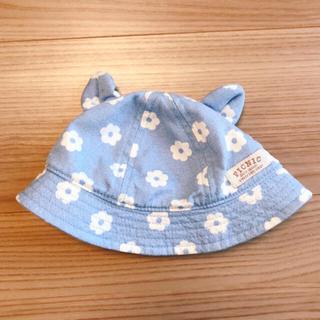 mikihouse - ミキハウス 耳付きお花柄帽子(サイズ44cm)