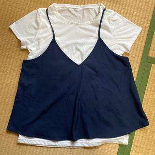 ニシマツヤ(西松屋)の授乳服 西松屋 Lサイズ キャミ Tシャツ(マタニティトップス)