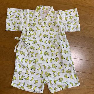 プティマイン(petit main)のpetit main 110 甚平 バナナ柄 子供服(甚平/浴衣)