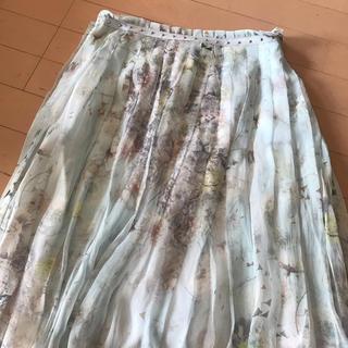 サルヴァトーレフェラガモ(Salvatore Ferragamo)のフェラガモ  シルクスカート 40(ひざ丈スカート)