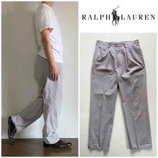 ラルフローレン(Ralph Lauren)のビンテージ ラルフローレン ストライプ シアサッカー タックパンツ 88(その他)