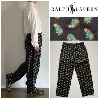 ラルフローレン(Ralph Lauren)の希少デザイン ラルフローレン ポロベア総柄 ワイドイージーパンツ XL(その他)