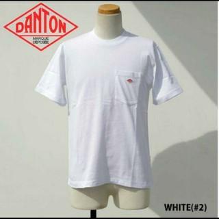 ダントン(DANTON)の新品 DANTON  ダントン tシャツ ホワイト 白Tシャツ  38(Tシャツ/カットソー(半袖/袖なし))
