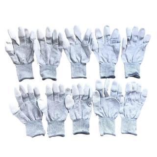 【新品・感謝セール】5双 静電気防止 手袋 カーボンファイバー L(店舗用品)