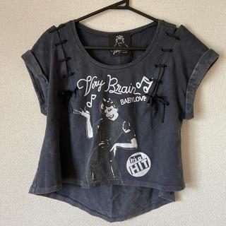 ベリーブレイン(Verybrain)のベリーブレインリボン付きTシャツ(Tシャツ(半袖/袖なし))