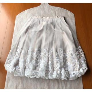 トゥービーシック(TO BE CHIC)の超美品♡ TO BE CHIC お花刺繍 華やかな チュール スカート 40(ひざ丈スカート)