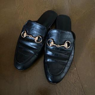 ドゥドゥ(DouDou)のdoudou ローファー スリッポン ピットローファー スリッパ(ローファー/革靴)