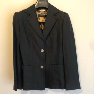 ドルチェアンドガッバーナ(DOLCE&GABBANA)のD&G ドルチェ&ガッバーナ ジャケット サイズ 36 ブラック(テーラードジャケット)