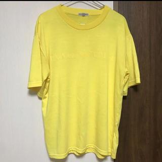 エンポリオアルマーニ(Emporio Armani)のEMPORIO ARMANI イエローTシャツ L(Tシャツ/カットソー(半袖/袖なし))