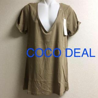 ココディール(COCO DEAL)の新品 COCODEAL ココディール Tシャツ Vネック レディース 半袖(Tシャツ(半袖/袖なし))