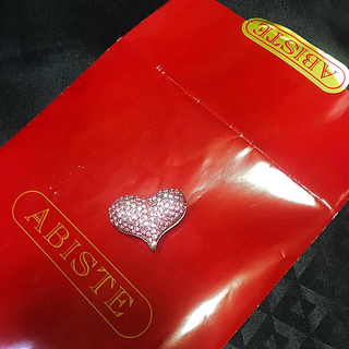アビステ(ABISTE)の最終値下 ラインストーン ハート ピンク リバーシブル ・ 袋 付き ショッパー(彫刻/オブジェ)