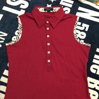 バーバリー(BURBERRY)の美品!バーバリーノースリーブシャツ(ポロシャツ)