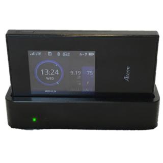 エヌイーシー(NEC)のAterm  MR04LN 台(グレードル)付 Wi-Fiルーター(PC周辺機器)