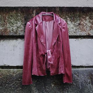 アメリヴィンテージ(Ameri VINTAGE)のVintage 90's Velvet jacket / Pink(テーラードジャケット)