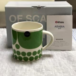 アラビア(ARABIA)のアラビア スンヌンタイ 日本限定カラー グリーンマグ1点(グラス/カップ)