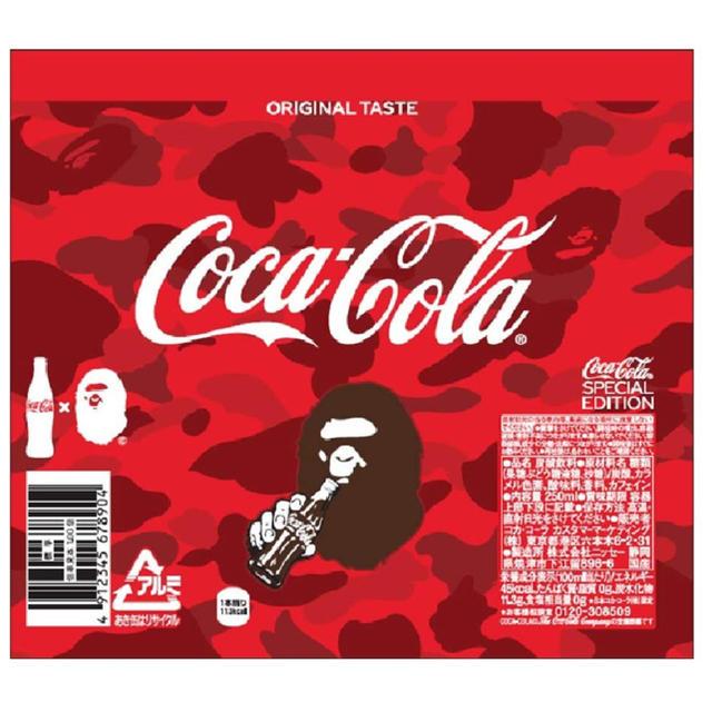 A BATHING APE(アベイシングエイプ)のコカ・コーラ 2020年BAPEデザイン スリムボトル 250ml ×3本 食品/飲料/酒の飲料(ソフトドリンク)の商品写真