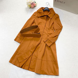 フォクシー(FOXEY)の美品 FOXEY フォクシー 洗える ベルト付き トレンチ コート(トレンチコート)