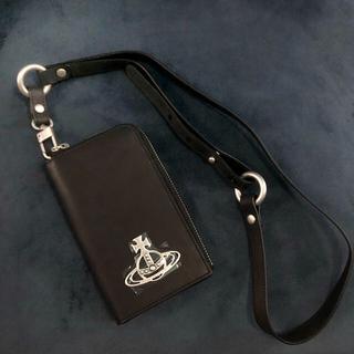 ヴィヴィアンウエストウッド(Vivienne Westwood)の新品 Vivienne 携帯&カードケース スマホケース ストラップ付き(iPhoneケース)