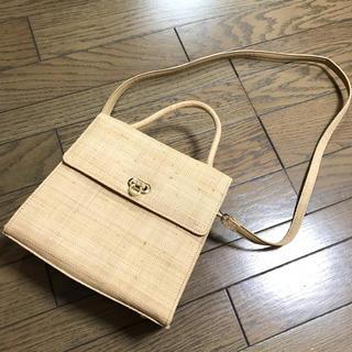 リリーブラウン(Lily Brown)のリリーブラウンLily Brown レトロクラシカル ペーパー素材サマーバッグ鞄(ハンドバッグ)
