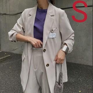 アメリヴィンテージ(Ameri VINTAGE)の新品タグ付 BACK SIDE JACKET ベージュ S アメリ(テーラードジャケット)