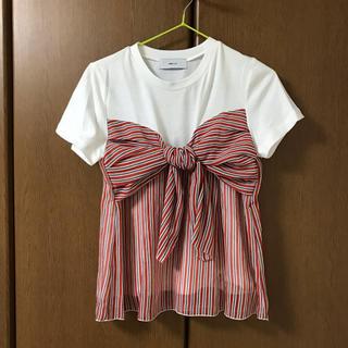 アバンリリー(Avan Lily)のリボンTシャツ(Tシャツ(半袖/袖なし))