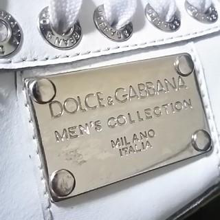 ドルチェアンドガッバーナ(DOLCE&GABBANA)の絶対王道プレート!ドルガバD&G高級レザースニーカー人気モデル!(スニーカー)