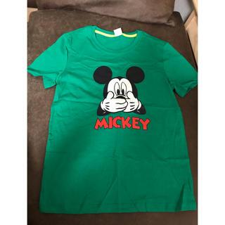 ミッキーマウス(ミッキーマウス)の新品 ミッキーマウス Tシャツ グリーン(Tシャツ(半袖/袖なし))
