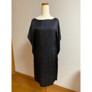 バレンシアガ(Balenciaga)の専用です。美品 バレンシアガ silk バックドレープ ワンピース 36(ひざ丈ワンピース)