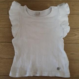 プティマイン(petit main)の専用です**プティマイン     袖フリルトップス100(Tシャツ/カットソー)