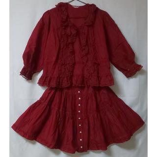 ピンクハウス(PINK HOUSE)の【子供服】ベビーピンクハウス セットアップ (トップス+スカート)(その他)