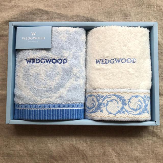 WEDGWOOD(ウェッジウッド)のウェッジウッド ウォッシュタオル 2枚セット 新品 レディースのファッション小物(ハンカチ)の商品写真