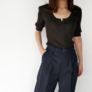 ジョンリンクス(jonnlynx)のフミカウチダ Rib Knit Short Sleeve Body Suit(ニット/セーター)