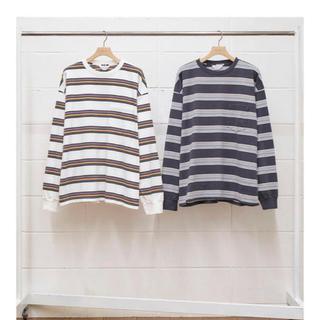 アンユーズド(UNUSED)のUNUSED BORDER LS T-SHIRT  ロンT サイズ3(Tシャツ/カットソー(七分/長袖))