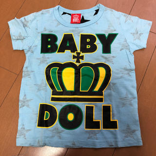サンカンシオン(3can4on)のBABY DOLL 透けスター半袖Tシャツ 110(Tシャツ/カットソー)
