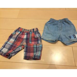 ディズニー(Disney)の半ズボン 男の子 80㎝ 2枚セット(パンツ)