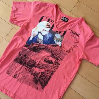 ピーピーエフエム(PPFM)のppfm Tシャツ サーモンピンク(Tシャツ/カットソー(半袖/袖なし))