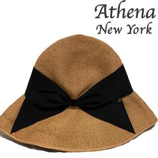 バーニーズニューヨーク(BARNEYS NEW YORK)のAthena NewYork Risakoアシーナニューヨーク リサコハット(麦わら帽子/ストローハット)