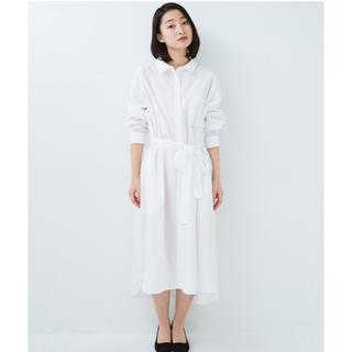 ハコ(haco!)のハコ リボン付き ロングシャツ ワンピース(ロングワンピース/マキシワンピース)