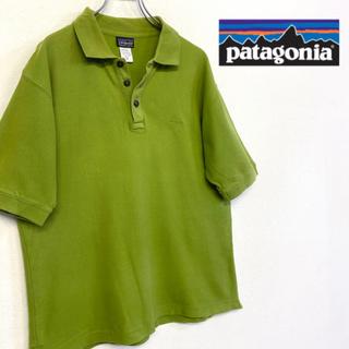 パタゴニア(patagonia)の美品 patagonia 刺繍ロゴ ポロシャツ グリーン系(ポロシャツ)