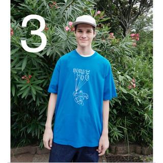 アンユーズド(UNUSED)の3 unused 1ldk別注 tシャツ ブルー(Tシャツ/カットソー(七分/長袖))