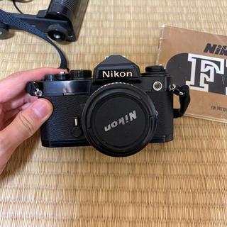 ニコン(Nikon)のNikon FE本体+標準レンズ+ストロボセット(フィルムカメラ)