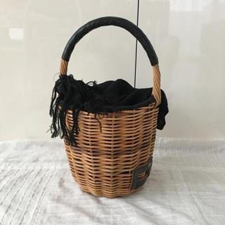 ミナペルホネン(mina perhonen)のエバゴス ミニバーキン ブライドル BLACK  一本手バッグ エバゴス(かごバッグ/ストローバッグ)