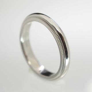 ティファニー(Tiffany & Co.)の質屋出品iu TIFFANY&Co. ティファニー ミルグレインリング5.5号(リング(指輪))