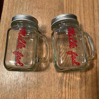 ミルクフェド(MILKFED.)のミルクフェド メイソンジャー ノベルティ 二個セット 非売品(容器)